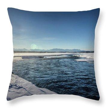 Open Water Throw Pillow