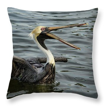 Open Wide Throw Pillow by Jean Noren