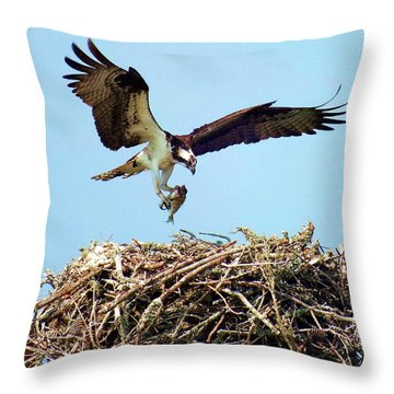 Open Wings Throw Pillow by Karen Wiles
