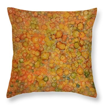 Orange Craze Throw Pillow