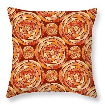 Orange Pattern Throw Pillow