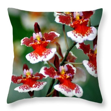 Orchid 34 Throw Pillow by Marty Koch
