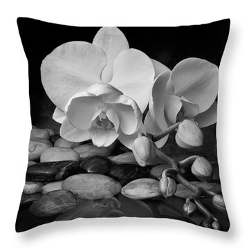Orchid - Sensuous Virtue Throw Pillow