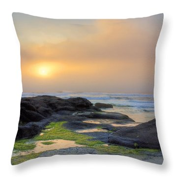 Oregon Coast Sunset Throw Pillow