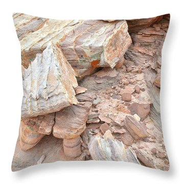 Throw Pillow featuring the photograph Ornate Sandstone In Valley Of Fire by Ray Mathis