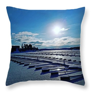 Oslo Fjords In Norway.  Throw Pillow