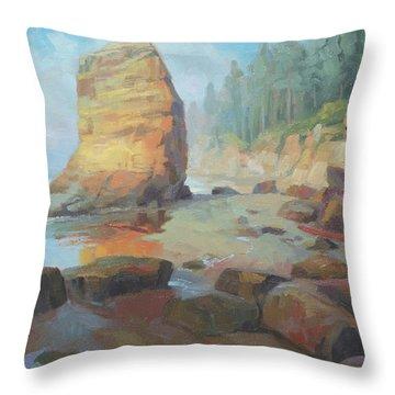 Otter Rock Beach Throw Pillow