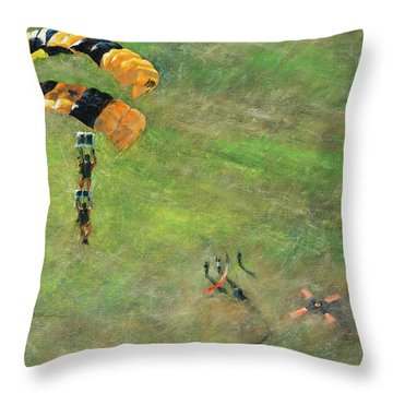 Out Of The Gold Throw Pillow
