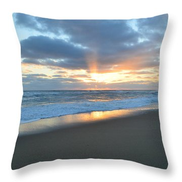 Throw Pillow featuring the photograph Outer Banks Sunrise  by Barbara Ann Bell