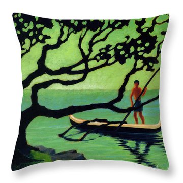 Outrigger Throw Pillow