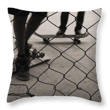 Outside Throw Pillow