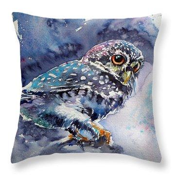 Owl At Night Throw Pillow
