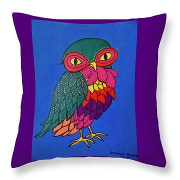 Owl Throw Pillow by Stephanie Moore