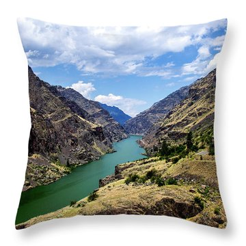 Oxbow Dam Tailwater Idaho Journey Landscape Photography By Kaylyn Franks  Throw Pillow