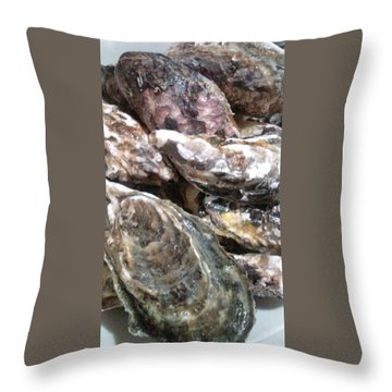 Oyster  Throw Pillow