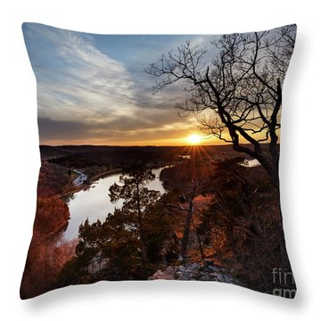 Throw Pillow featuring the photograph Ozark Sunset by Dennis Hedberg