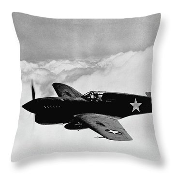 P-40 Warhawk Throw Pillow by War Is Hell Store