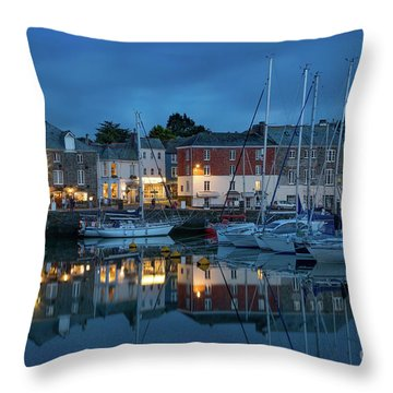 Throw Pillow featuring the photograph Padstow Evening by Brian Jannsen