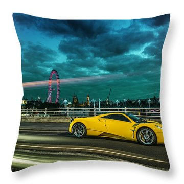 Pagani Huayra London Throw Pillow