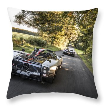 Pagani Road Trip Throw Pillow