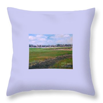 New England Shore Throw Pillow