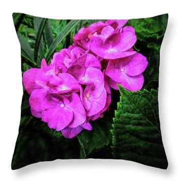 Painted Hydrangea Throw Pillow