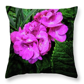 Painted Hydrangea Throw Pillow