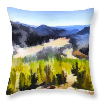 Painted Rockies Throw Pillow