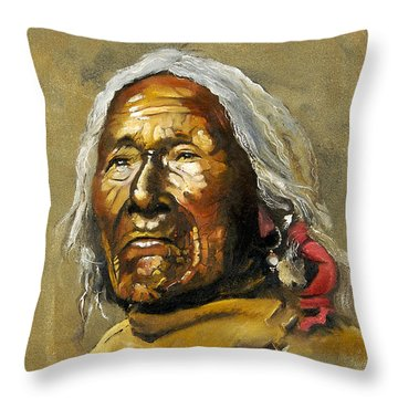 Painted Sands Of Time Throw Pillow by J W Baker