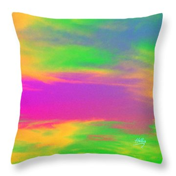 Painted Sky - Abstract Throw Pillow by Linda Hollis