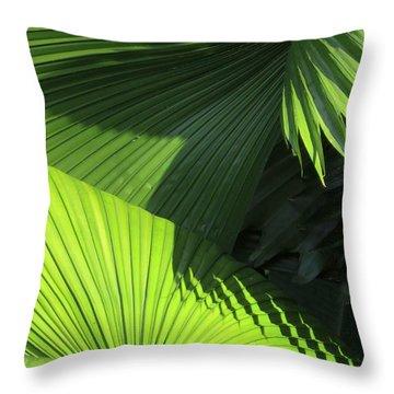 Palm Patterns Throw Pillow