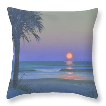 Palmetto Moon Throw Pillow by Blue Sky
