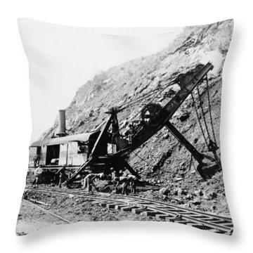 Panama Canal - Construction - C 1910 Throw Pillow