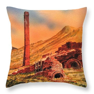 Panamint City Ghost Town California Throw Pillow by Kevin Heaney