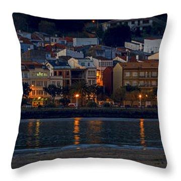 Panorama Of Cedeira Galicia Spain Throw Pillow