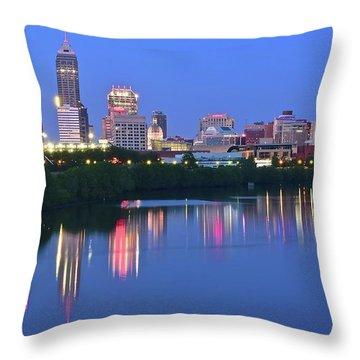 Panoramic Indianapolis Throw Pillow