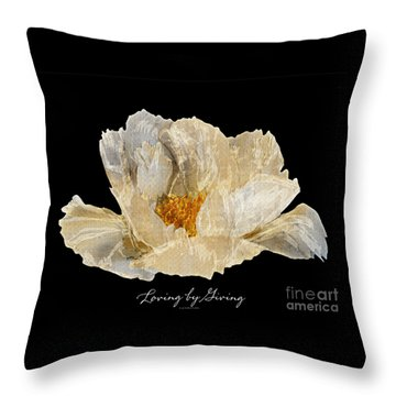 Paper Peony Throw Pillow by Diane E Berry