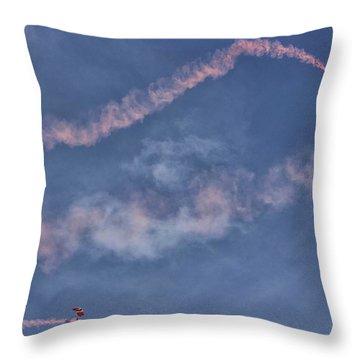 Parachuting In Throw Pillow