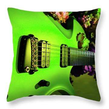 Parker Fly Guitar Hover Series Throw Pillow