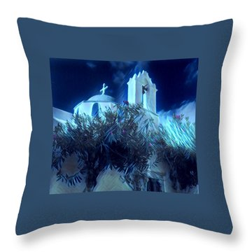 Throw Pillow featuring the photograph Paros Island Beauty Greece  by Colette V Hera Guggenheim