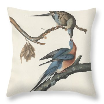 Passenger Pigeon Throw Pillow by Anton Oreshkin
