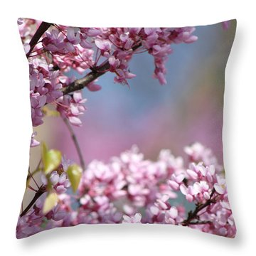 Pastel Blossoms Throw Pillow by Michele Wilson
