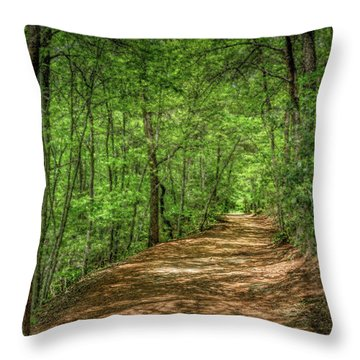 Path Less Travelled - Impressionist Throw Pillow
