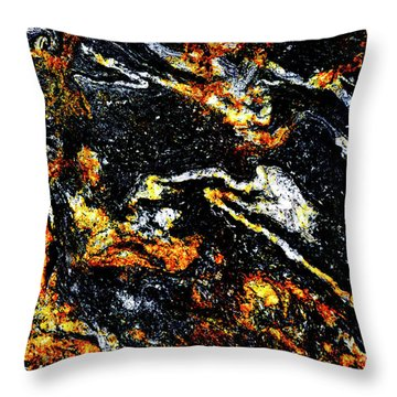 Throw Pillow featuring the photograph Patterns In Stone - 189 by Paul W Faust - Impressions of Light