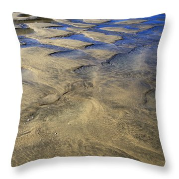Patterns In The Sand IIi Throw Pillow by Shirley Mitchell