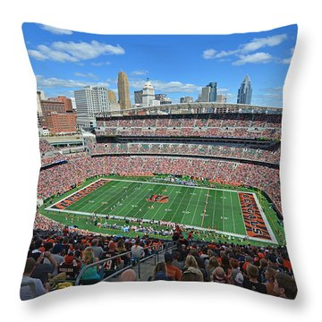 Paul Brown Stadium - Cincinnati Bengals Throw Pillow