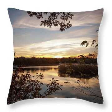 Throw Pillow featuring the photograph Pawcatuck River Sunrise by Kirkodd Photography Of New England