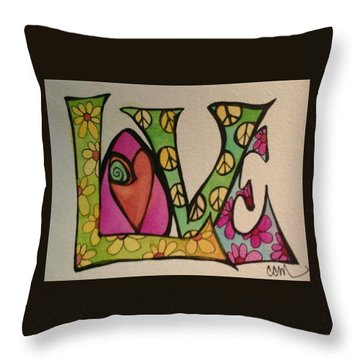 Peace And Love Throw Pillow