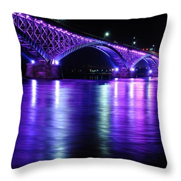 Peace Bridge Supporting Breast Cancer Awareness Throw Pillow