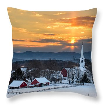 Peace Over Peacham Throw Pillow